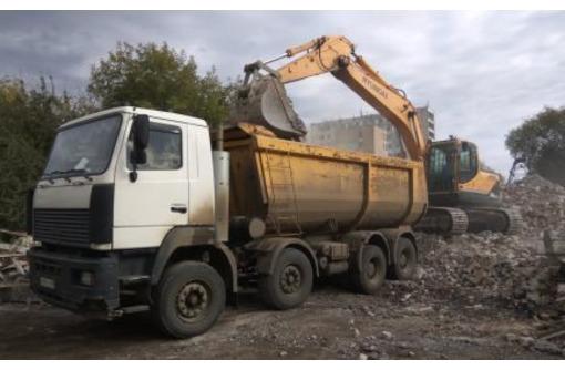 Вывоз мусора самосвалом, доставка сыпучих материалов, фото — «Реклама Севастополя»