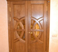 Двери из массива. Межкомнатная двухстворчатая дверь. Столярные изделия. Бесплатная доставка по Крыму - Межкомнатные двери, перегородки в Севастополе