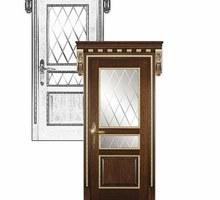 Двери из массива. Межкомнатная дверь 00104. Столярные изделия. Евпатория - Межкомнатные двери, перегородки в Евпатории