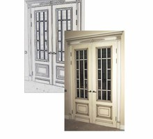 Двери из массива. Межкомнатная дверь 00107. Столярные изделия. Бесплатная доставка по Крыму - Межкомнатные двери, перегородки в Ялте