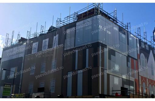 Временный фасад, псевдофасад в Евпатории (фальш фасад), фото — «Реклама Евпатории»