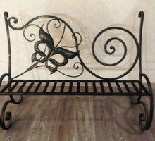 Скамья садовая кованая - Мебель на заказ в Симферополе