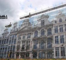 Фасадная сетка - фальшфасад из баннерной сетки, печать и монтаж - Реклама, дизайн, web, seo в Крыму