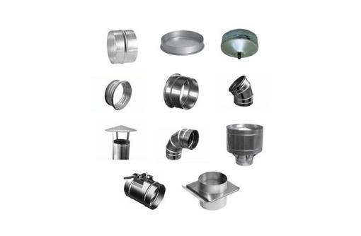 Вентиляция: круглые фасонные части для воздуховода - Металлы, металлопрокат в Севастополе