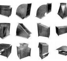 Вентиляция: прямоугольные фасонные части воздуховодов - Металлы, металлопрокат в Севастополе