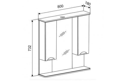 """Зеркало """"Афина 80"""". Мебель для ванной Doratiz. Оптовые продажи от производителя - Мебель для ванной в Саках"""