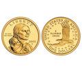 Продам монету золотистый доллар США 2000 г. Индианка Сакагавея. Парящий орёл - Антиквариат, коллекции в Севастополе