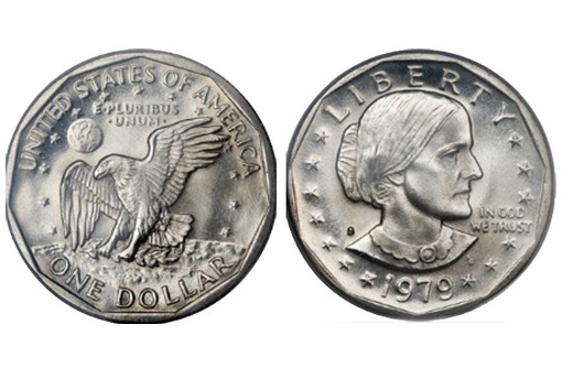 Доллар США 1979 года. Сьюзен Энтони. Орёл, фото — «Реклама Севастополя»