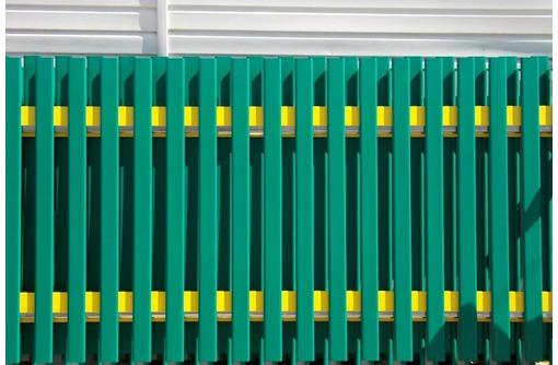 Забор из металлического штакетника - Металлические конструкции в Севастополе