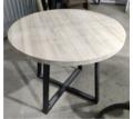 Круглый стол из массива дуба. Цельная ламель - Столы / стулья в Симферополе