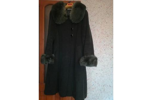 Продаю пальто зимнее, драповое с песцовым воротником, разм. 52, б/у, фото — «Реклама Севастополя»