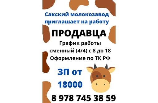 Продавец-консультант в магазин Сакского молокозавода, фото — «Реклама Севастополя»