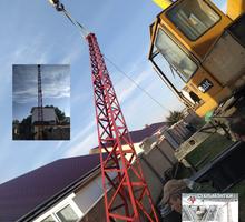 Изготовление монтаж металлических вышек, мачт и элементы для монтажа антенн и молниеотводов - Металлические конструкции в Ялте