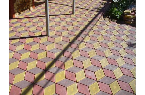 """Тротуарная плитка """"Ромб"""" 3D-эффект. Есть доставка - Кирпичи, камни, блоки в Саках"""