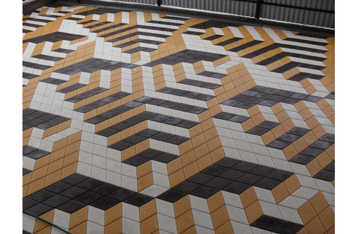 "Тротуарная плитка ""Ромб"" 3D-эффект. В наличие и под заказ - Кирпичи, камни, блоки в Феодосии"