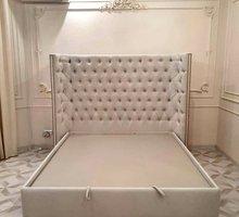 Кровати в каретной стяжке от студии мебели Орион-Крым по вашим размерам - Мебель для спальни в Симферополе
