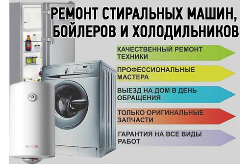 Ремонт стиральных машин, чистка и ремонт бойлеров, холодильников в Севастополе – быстро и недорого, фото — «Реклама Севастополя»