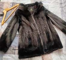 Норковая шуба 42-44 с капюшоном Stefania - Женская одежда в Крыму