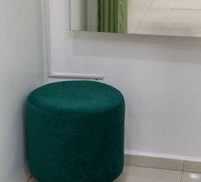 Перетяжка 2-х диванчиков и 5 пуфиков. Перетяжка мебели от 500 рублей - Мягкая мебель в Симферополе