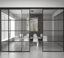 Офисные перегородки пластик и стекло или алюминиевые - Межкомнатные двери, перегородки в Партените