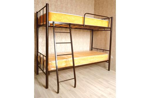 Кровати на металлокаркасе, двухъярусные, односпальные для хостелов, гостиниц - Мебель для спальни в Феодосии
