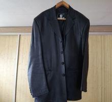 Кожаный мужской пиджак - Мужская одежда в Севастополе