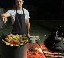 Мангал с печью под казан разборной - Садовая мебель и декор в Крыму