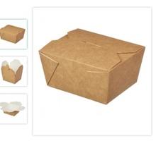 """Бумажный контейнер """"Fold Box"""" 600 мл крафт 130*110*65 мм - Посуда в Крыму"""