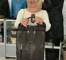 Женская сумка - ОДРИ-02  Серо-коричневый кайман с золотом - Сумки в Севастополе
