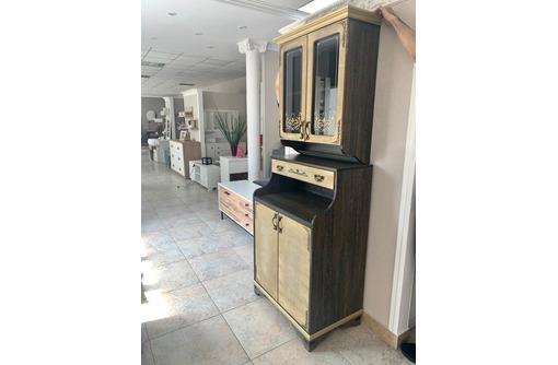 Буфет черный, расписанный патиной, золотого цвета, мдф пленочный - Мебель для кухни в Севастополе