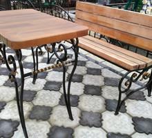 Лавка и стол на место захоронения металл, дерево - Ритуальные услуги в Севастополе
