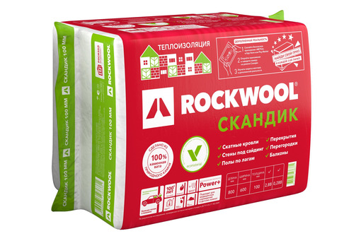 Утеплитель, теплоизоляция Роквул Скандик Баттс (камвата Rockwool) - Фасадные материалы в Севастополе