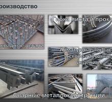 Металлообработка Гиб до 12 мм -4м  рубка до 25 мм-3 м  сверловка и вальцовка металлоконструкций. - Металлические конструкции в Крыму