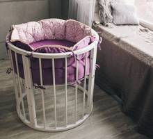Круглая кроватка-трансформер для новорожденных - Детская мебель в Севастополе