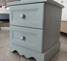 Тумбочка голубая в стиле прованс с итальянск. ручками - Мебель для спальни в Севастополе