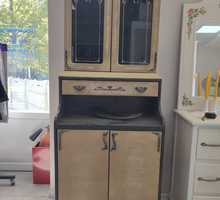 Буфет черный, расписанный патиной, под золото, мдф - Мебель для кухни в Севастополе