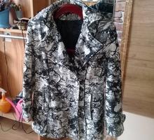 Кашемировое полупальто с капюшоном - Женская одежда в Крыму
