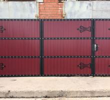 Ворота откатные  профнастил АЛУПКА - Заборы, ворота в Алупке