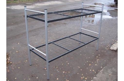 Двухъярусные железные кровати, для казарм, металлические кровати с ДСП спинками, кровати для бытовок - Мягкая мебель в Алупке
