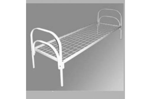 Одноярусные металлические кровати для вагончиков, кровати одноярусные, кровати армейские - Мягкая мебель в Черноморском