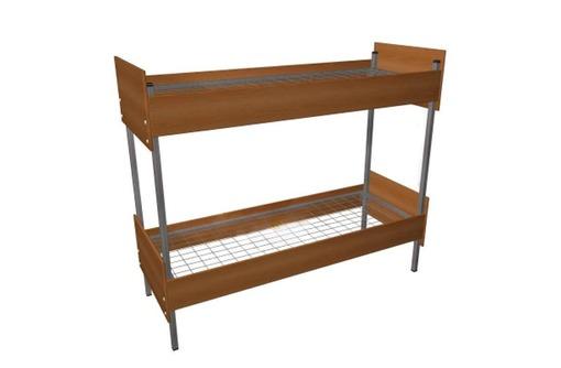 Кровати металлические с ДСП спинками для санаториев, кровати для больниц, кровати для интернатов. - Мягкая мебель в Красноперекопске