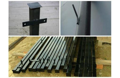 Столбы металлические Апшеронск, фото — «Реклама Апшеронска»