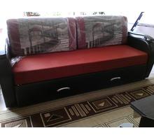 Диван прямой красный раскладной - Мягкая мебель в Краснодаре