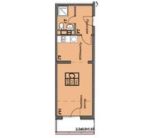 Студия с выделенной кухней - Квартиры в Анапе
