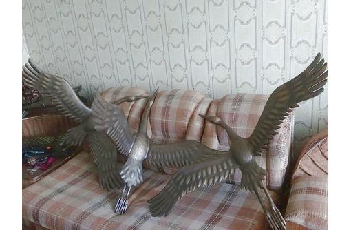 Журавли из металла-скульптура, фото — «Реклама Белореченска»