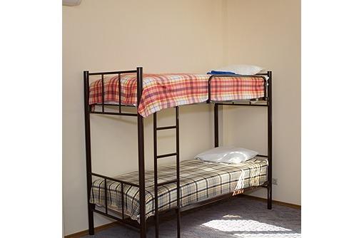Кровати двухъярусные, односпальные на металлокаркасе для гостиниц, хостелов, баз отдыха - Мебель для спальни в Геленджике