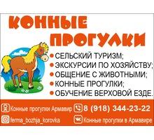 Конные прогулки, обучение, экскурсии - Активный отдых в Краснодарском Крае