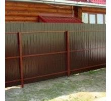 Забор из профнастила с забиванием столбов - Заборы, ворота в Апшеронске