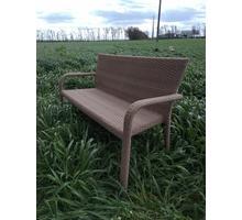 Скамейка двухместная их искусственного ротанга - Столы / стулья в Краснодаре