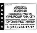 кладовщик, аппаратчик, управляющий, торговые представители, подсобные рабочие - Рабочие специальности, производство в Новокубанске